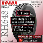 295 80R225 Motor Home Tires Includes Nationwide Installation