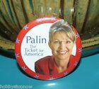 Palin The Ticket for America 2008 Election Campaign Button HS9