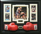 Mike Tyson & Evander Holyfield Signed Boxing Glove Display.