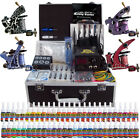 Complete Tattoo Kit 4 Pro Machine 54 Inks Needles Power Supply Set Case TK456