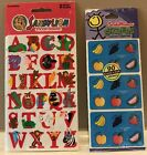 Childrens Educational Stickers Sandy Lion Animal ABC Fruit Scratch