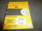 John Deere Model 444E Wheel Loader Owner Operator Maintenance Manual OMAT123458