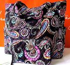 NWT Vera Bradley Pleated Tote and Turnlock Wallet Set Bandana Swirl