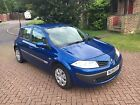 RENAULT MEGANE EXPRESSION 2006 16 16V MANUAL IN ELECTRIC BLUE WITH NEW MOT