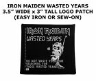 Iron Maiden Logo Embroidered Patch Iron on or Sew on Music Rock