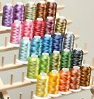 Sewing Machine Embroidery Thread Polyester Variegated Color Cones Singer Brother