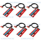 6 pack Pcie PCI E Express 1x To 16x ETH Riser Card Adapter USB 30 Cable HUB