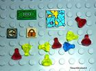 LEGO Minifigure Pirate Castle Treasure - Map Money Jewels/Gems Lock Compass #394