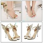 Womens Butterfly High Heels Stilettos Sandals Ankle Strap Wings Nightclub Shoes