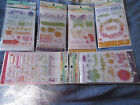 6 Pkgs Recollections Stamps  Stencils NIP Great mix for cards and scrapbooks
