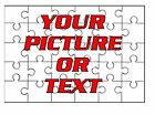 Custom Printed Puzzles 30pc Add Your Own Image Photo logo Free Gift Box