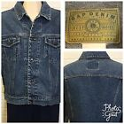 Vintage GAP DENIM Mens Size L STONEWASHED TRUCKER Jean Jacket ITS A BASIC