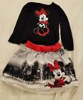 EUC Disney Minnie Mouse Long Sleeve Top and Skirt Set Outfit Free shipping