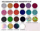 Hologram Heat Transfer Vinyl 20 Wide Easy Weed sell by yard 22 Colors to choose