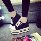 2017 FASHION Women Sneakers Lace Up Canvas High top High Platform Casual Shoes