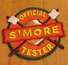 Boy Girl Scout Smore Tester Fun Patch Badge Set of 2