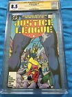Justice League 1987 2 DC CGC SS 85 Signed by Maguire Giffen DeMatteis