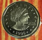 1999P $1 US Proof Susan B Anthony Dollar! Low Mintage! With History