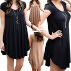 Women Tunic Top Shirt Blouse Dress Lose Long Casual Fashion Sleeve Party Evening
