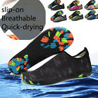 Men Athletic Water Shoes Aqua Summer Socks Beach Slip on Breathable Quick drying