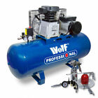 Wolf 150 Litre Air Compressor 3HP Twin Cylinder Pump Belt Driven