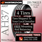 Motor Home Tires 255 70R225 Hankook INCLUDES SHIPPING  INSTALLATION