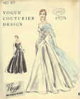 1954 Vintage VOGUE Sewing Pattern B32 DRESS EVENING GOWN 1175