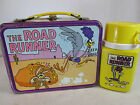 Vintage 1970s Thermos brand Road Runner metal lunch box kit