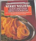 Quick  Easy Menu Cookbook by Staff Weight Watchers International 0 453 01015 6