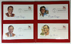 1981 Reagan Bush 4 Inauguration Day Covers Fleetwood Folder Booklet