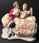 1978 MZ Irish Dresden Figurine LACE Marriage Proposal COUPLE LADY