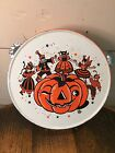 Vintage US Metal Toy Tin Litho Halloween JOL Pumpkin Childs Party Tambourine 6