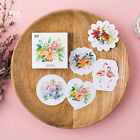 45X Flower Animals Watercolor Painting Sticker Box Set Scrapbook Deco Gift Seal