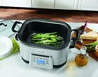 6 Qt 5in1 Electric Multi-Cooker Cooking with Non-Stick Inner Pot Stainless Steel