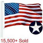 G128  American Flag US USA  3x5 ft  EMBROIDERED Stars Sewn Stripes