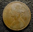 1862 GREAT BRITAIN 1 Penny - Very Fine Queen Victoria Coin, KM# 749.2  (#704)