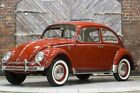 1966 Volkswagen Beetle Classic 1300 Ruby Red Platinum White Leatherette 66 Later 1600 cc 58hp engine 12 Volt