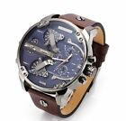 Diesel Men's Mr. Daddy 2.0 Brown Leather Quartz Chronograph Quartz Watch DZ7314