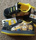 NEW Despicable Me Minion Mania Sneakers Shoes Boys Toddler Size 7 Black Yellow