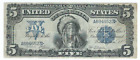1899 $5 FIVE DOLLAR INDIAN CHIEF LARGE SILVER CERTIFICATE VERY NICE NO PIN HOLES