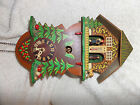 VINTAGE CUCKOO CLOCK WITH THERMOMETER AND WEATHER PEOPLE ~PARTS OR REPAIR