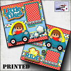 LITTLE TIKES BOY car PRINTED 2 premade scrapbook pages paper layout by CHERRY