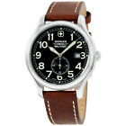 Wenger Swiss Military Black Dial Leather Strap Men's Watch 79309C
