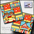 ANIMAL CRACKERS boy girl 2 premade scrapbook pages paper layout CHERRY 0078