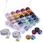 EBoot 50 Pieces Prewound Thread Bobbins Sewing Bobbins Size A With Case And 2