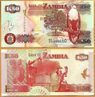 Zambia 2009 GEM UNC 50 Kwacha Banknote Paper Money Bill P- 37h