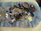 Vintage Drawer Lot  Used Stuff Dice Hat Pins Thimbles Ect