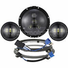 7 LED Headlight Passing Lights For Harley Fatboy Heritage Softail Deluxe FLST