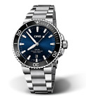 New Oris Aquis Date Stainless Steel Blue Dial Mens Watch 73377304135MB