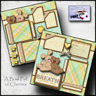 BABY BOY OR GIRL PRINTED 2 premade scrapbook pages paper piecing layout CHERRY